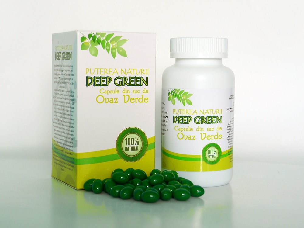 capsule din ovaz verde